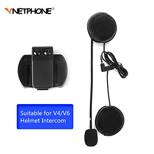 Vnetphone V4V6 Bluetooth Intercom Headest Accessories Clip Only Suit for V4V6-1200 Helmet Intercom Motorcycle Bluetooth interphone with 35mm Jack Plug