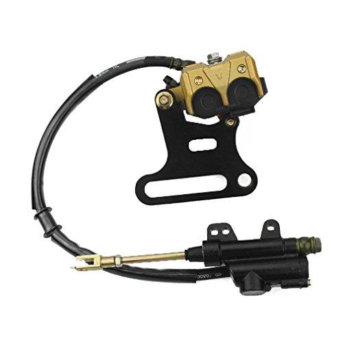 GOOFIT Rear Hydraulic Caliper Brake Master Cylinder Assembly for 70cc 110cc 125cc 150cc ATV Quad