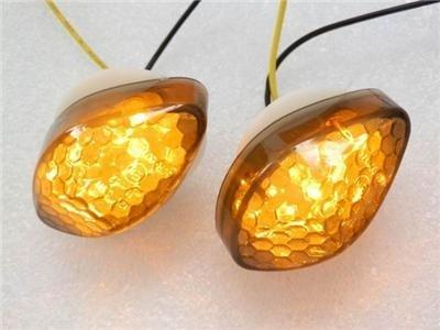 2x JDM Style Flush Mount Smoke Lens 15 Amber LED Turn Signal Light Blinker Indicator Side Marker For Honda CBR 600RR 2003-2008