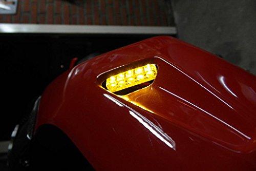 2x Universal Motorcycle Bike Amber LED Turn Signal Indicator Blinker Motorbike