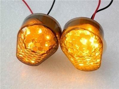 Excellent Super Bright Flush Mount Smoke Lens 15 Amber LED Turn Signal Light Blinker Indicator
