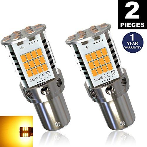 LUYED 2 Premium Amber LED Turn Signals Super Bright 1 pair No Hyper Flash Error Free 1156 1141 1073 7506 FrontRear LeftRight indicator lights
