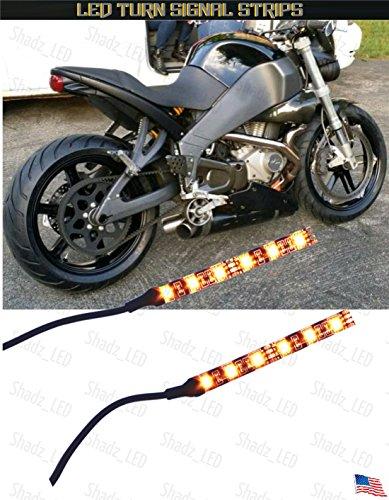 Shadz_led ~ Universal Motorcycle Bike Amber LED Turn Signal Indicator Blinker Pack of 2 Light