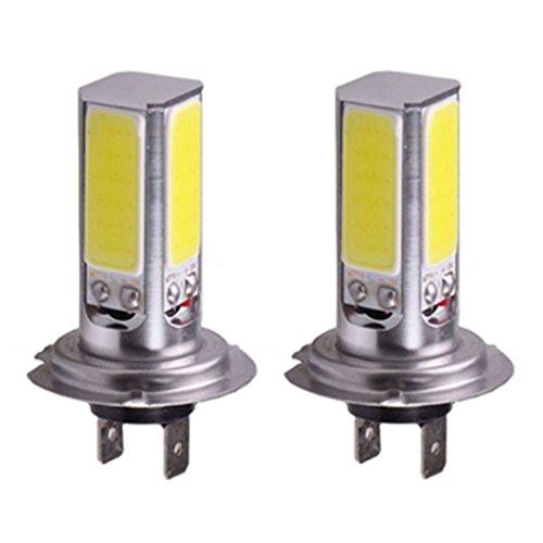 Car Headlight Lamp Dacawin 2x H7 20W Car LED Bulb Xenon White Fog Driving Head Light Lamp Silver