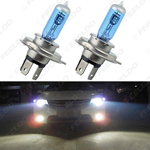 FEELDO Car H4 55W100W 12V White Fog Lights Halogen Bulb Car Headlights Lamp Car Light Source Parking