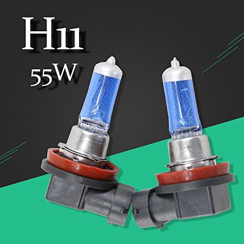 H11 Halogen Bulb 12V 55W 2 PCS1 Pair Super White 6500K Quartz Glass Xenon Dark Blue Car HeadLight Lamp