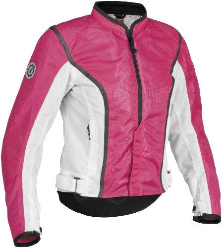 Firstgear Contour Mesh Womens Textile Motorcycle Jacket PinkWhite Large