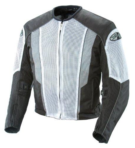 Joe Rocket Phoenix 50 Mens Mesh Motorcycle Riding Jacket WhiteBlack XX-Large