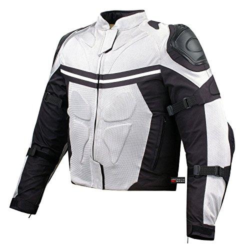 PRO MESH MOTORCYCLE JACKET RAIN WATERPROOF WHITE L