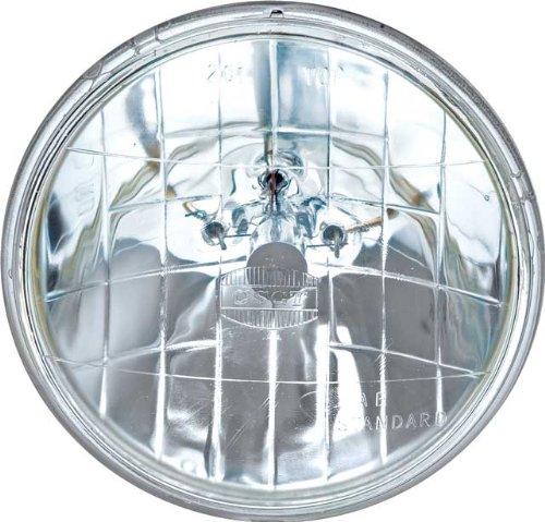 OCTANE LIGHTING 5-34 12V Halogen Crystal Clear HILOW Beam Sealed Beam Glass Headlight Headlamp Light Bulb 12 volt