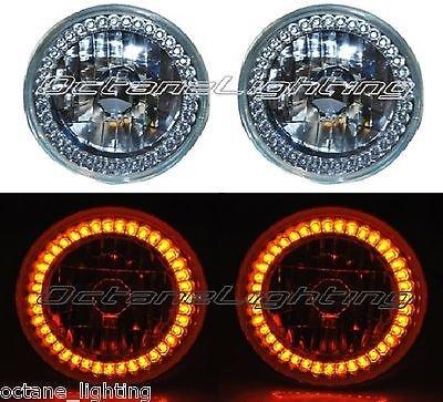 OCTANE LIGHTING 5-34 Halogen Amber Led Ring Halo Angel Eyes Headlight Headlamp Light Bulbs Pair