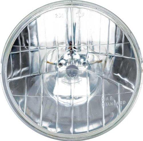 OCTANE LIGHTING 7 12V Halogen Crystal Clear HILOW Sealed Beam Glass Headlight Headlamp Light Bulb 12 volt