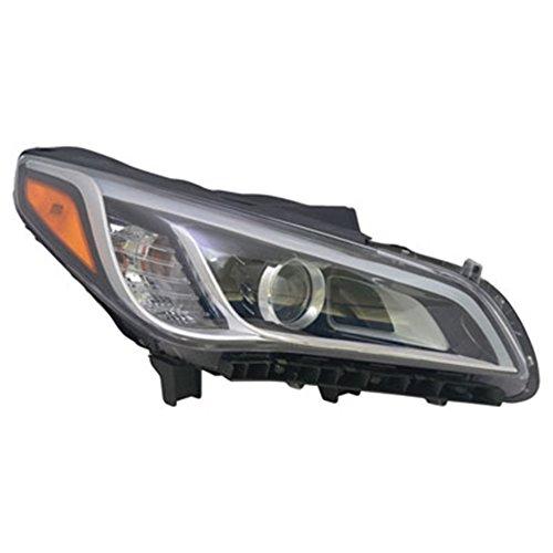 Passenger Side Hid Headlight Assembly For Hyundai Asm Rh Hid 15-17 Sonata
