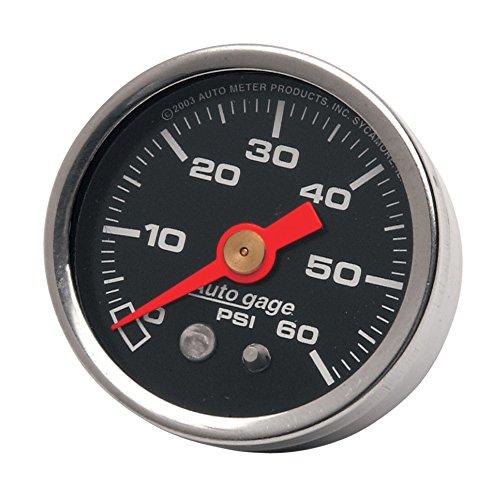 Autometer Black 60 PSI Oil Pressure Gauge for Harley-Davidson - HC-OPG-60B