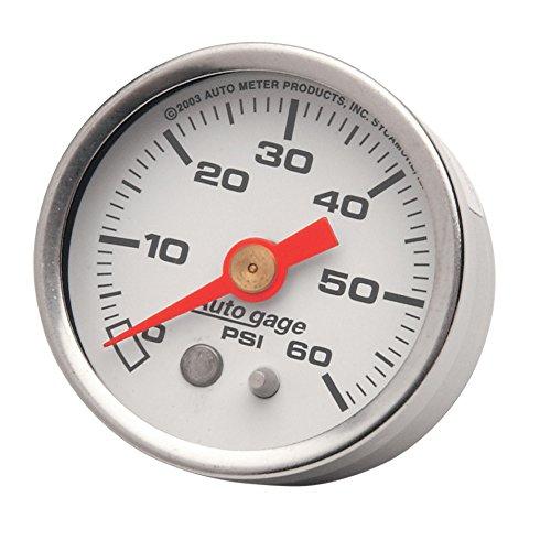 Autometer White 60 PSI Oil Pressure Gauge for Harley-Davidson - HC-OPG-60W