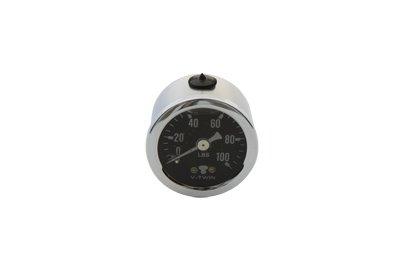 V-Twin 40-0385 Liquid Filled Oil Pressure Gauge