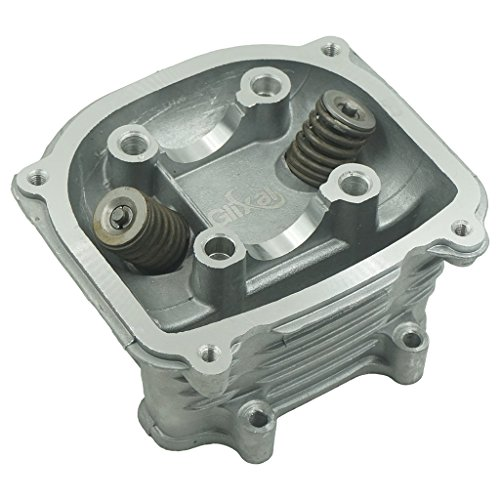 Glixal ATMT1-021 GY6 125cc 150cc to 155cc 585mm Performance Cylinder Head Assy with valves for 152QMI 157QMJ Chinese Scooter Moped ATV Go Kart None EGR Type