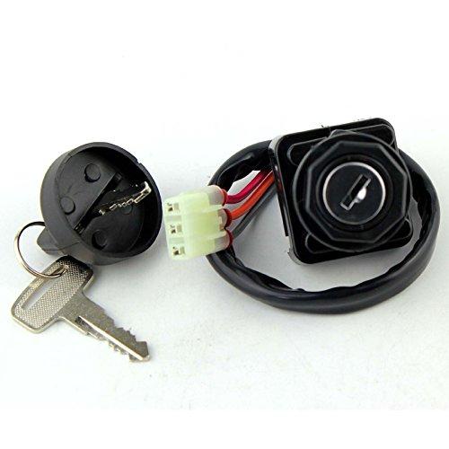 3 pos Ignition Key Switch For Suzuki Quadsport Ozark Quadrunner Quadmaster  Arctic Cat 250 300 375 400 500  Kawasaki KFX 1998-2014 OEM Repl 37110-07G00 37110-05G00 3430-040 3509-004 27005-S005