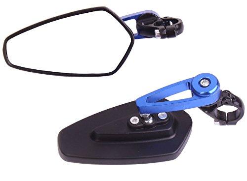 Arrow Bar End View Mirrors with Blue stem for 2012 Triumph Bonneville