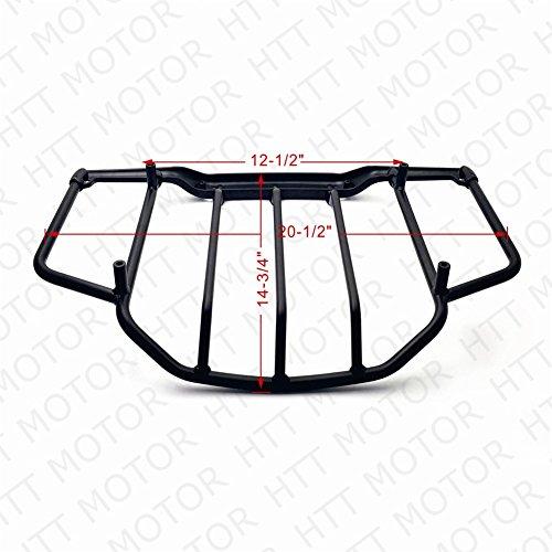 Air Wing Tour Pak Luggage Rack Rail Flat Black For Harley Touring FLHT FLHX FLHR FLTR