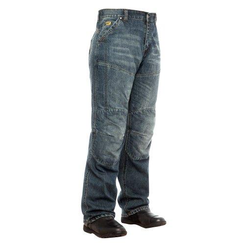 Bilt Iron Workers Steel Motorcycle Jeans - 36, Distressed Denim