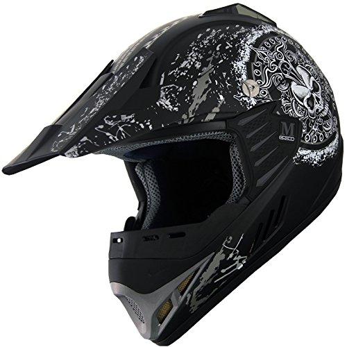 Kid Youth ATV Motocross Dirt Bike Off Road Helmet B47 Matt Black YXL