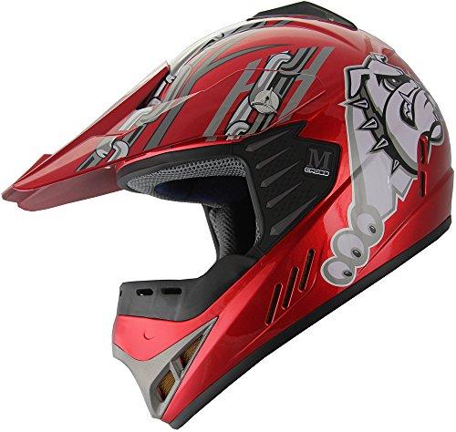 Kid Youth ATV Motocross Dirt Bike Off Road Helmet B96 YXL Wine Red