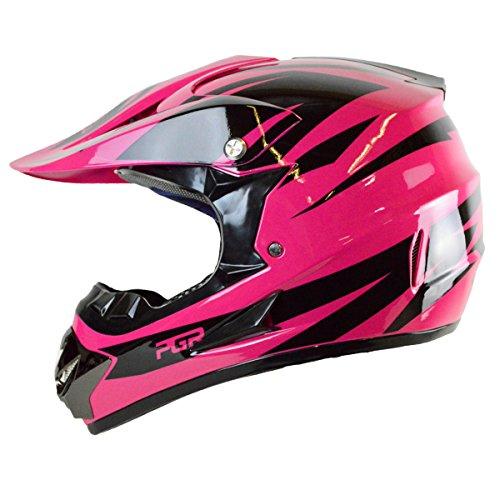 PGR X25 Youth Newage Motocross MX BMX Dirt Bike Dune Buggy Enduro ATV Quad Off Road Medium Hot Pink