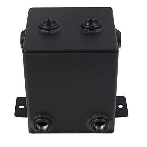 ALLOYWORKS Black 2L Full Aluminum Universal Complete Fuel Surge Tank 2 Litre
