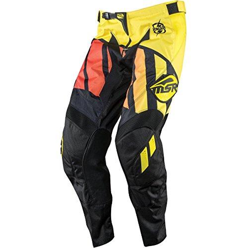 Msr Racing M15 Renegade Mens Motocross Motorcycle Pants - Blackyellowred  Size 34