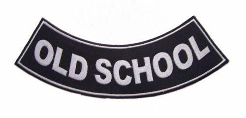 OLD SCHOOL PATCH ROCKER BACK PATCH FOR MOTORCYCLE BIKER VEST JACKET