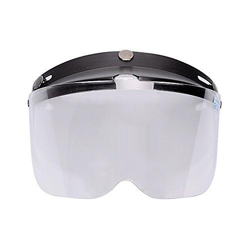 1Pcs Flip Up Clear Visor Full Face Shield 3 Snap For Open Half Face Helmet Motorcycle