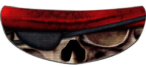 SkullSkins Ancient Pirate SK Motorcycle Shield Skin Red