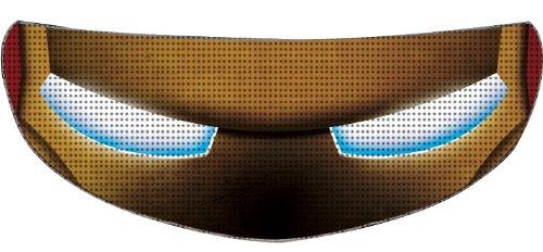 SkullSkins Iron Head SK Motorcycle Shield Skin RedGold