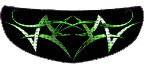SkullSkins Tribal SK Motorcycle Shield Skin Green