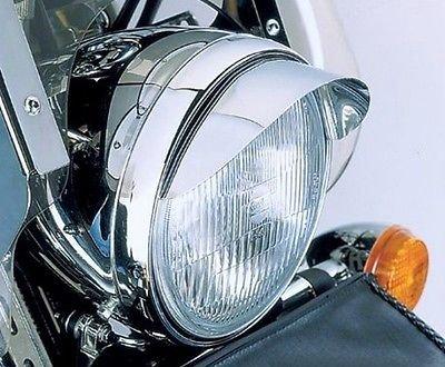 i5 Chrome 7-inch Headlight Visor for Honda Kawasaki Suzuki Yamaha Harley