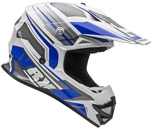 Vega Helmets VRX Advanced Off Road Motocross Dirt Bike Helmet Blue Venom Graphic Large