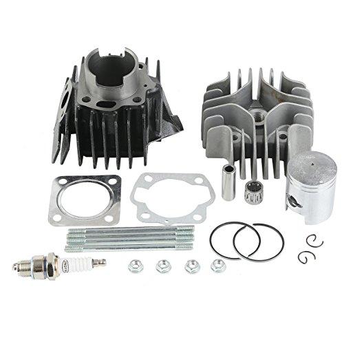 XMT-MOTO New Cylinder Head Piston Gasket Top End Kit For 1978-2006 Suzuki JR50Replace11111-0400111211-04002-0F011141-0400011241-0401009482-0029001500-0645B08321-0106709263-12023etc