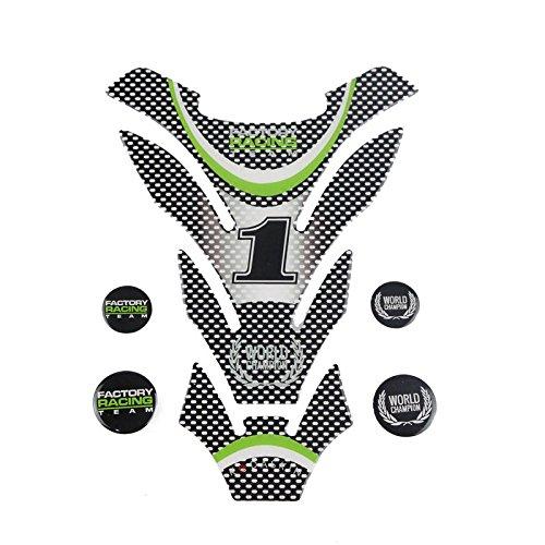 PRO-KODASKIN Motorcycle Carbon Tank Pad Sticker Decal Emblem for All KAWASAKI Champion WSBK(Ninja ZX-10RR)2018