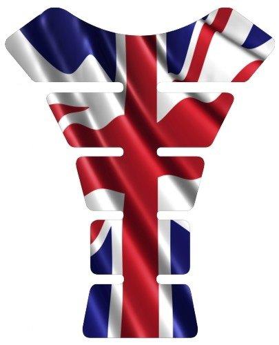 Motorcycle British Great Britain UK United kingdom waving flag sportbike gel tank pad protector tankpad guard sticker