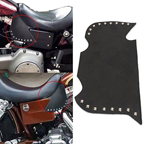 Jade Rivet Plain Leather Heat Shield Deflectors For Suzuki Kawasaki Yamaha Honda Victory