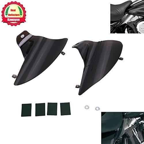 Kawayee Motorcycle Smoke Saddle Shield Heat Deflector For 2009-2015 Harley Davidson Touring Road Electra Glide