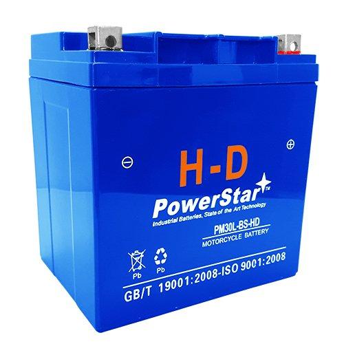PowerStar H-D Battery Replacement For WPX30L-LS Lightning Start Battery