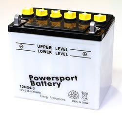 Replacement BATTERY 12N24-3 POWER SPORT BATTERY Battery