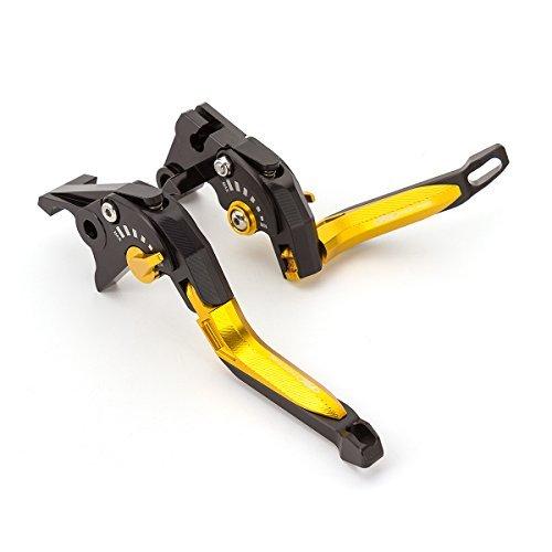 FXCNC Racing 5D Texture Billet Folding Extendable Adjustable Brake Clutch Levers for Honda CB1000R 08-16 CBR1000RRFIREBLADE 04-07