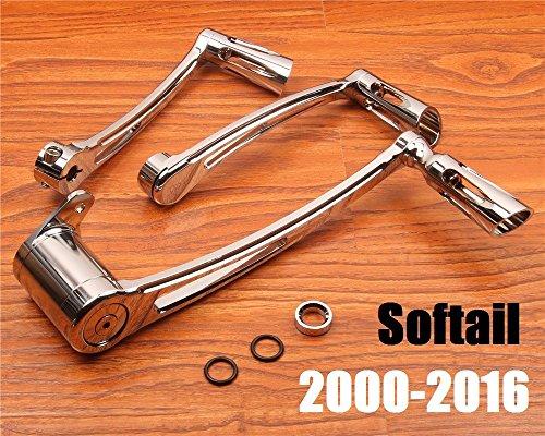 CNC chrome Brake Arm lever harley softail heel toe shift lever fatboy shifter peg harley davidson parts 00-16