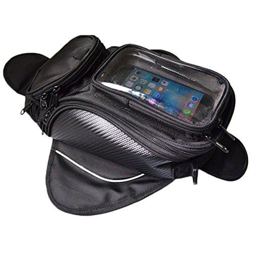 Lozom Motorcycle Gas Oil Fuel Tank Bag Waterproof Backpack Magnetic Motorcycle Tank Bag for Honda Yamaha Suzuki Kawasaki Harley