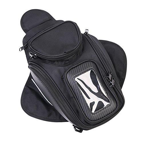 Motorcycle Tank Bag Universal Waterproof with Strong Magnetic Gas Oil Fuel Tank Bag Magnetic Motorbike Bag for Honda Yamaha Suzuki Kawasaki Harley
