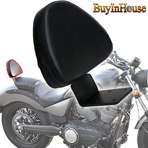 (for Victory Vegas Boardwalk High Ball Gunner Kingpin Motorcycle Passenger Rear Backrest Sissy Bar Black