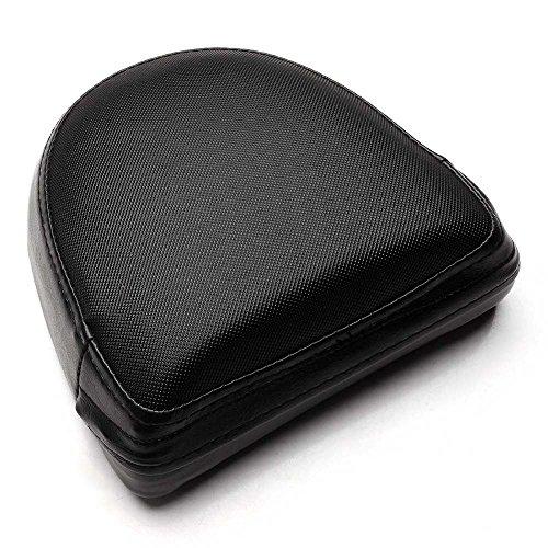 NEVERLAND Motorcycle Sissy Bar Backrest Cushion Pad for Harley Custom Cruiser Bobber Black